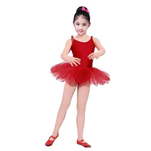 Ogquaton Kleinkind Kinder Mädchen Tiered Gaze Lace-up Trikots Ballett Body Dancewear Kleid Kleidung Outfits - für Alter 2-6 Jahre Kinder langlebig und praktisch - Tiered Gaze