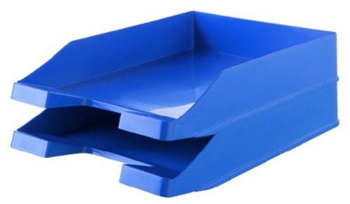 HAN Briefablage KARMA 10278-16 in Öko-Blau/Umweltfreundliche Papierablage aus 100% Recyclingmaterial/Für Briefe & Papiere bis Format A4–C4, 10 Stück