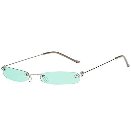 Kleine Sonnenbrille Polarisiert für Damen/Dorical Metallic Vintage Transparent Small Frame Unisex Brillen Vintage Outdoor Brille Super Coole Frauen Sunglasses Travel Eyewear(A)