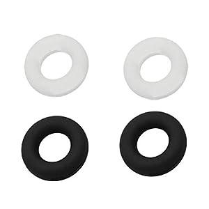 SUPVOX Brillenbügel Halter Silikon Antirutsch Überzüge Ring Ohrbügel für Brillen Sonnenbrillen 20 Stück (Weiß und Schwarz)