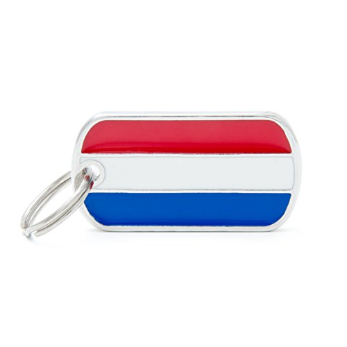 Médaille MyFamily Military Petite Flags Hollande plaque chien gravure gratuite coutume chat