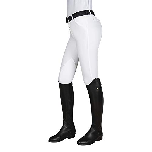 Damenhose Kniebesatz Boston Farbe: weiss Größe: 38