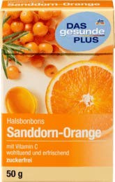 DAS gesunde PLUS Husten-Bonbon, Sanddorn-Orange, zuckerfrei, 50 g