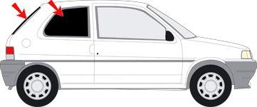Preisvergleich Produktbild Autosonnenschutz Scheibentönung Peugeot 106 -3 Türer Bj.96-03 Art.24280-3