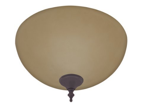 Antique Bronze Fan (Hunter 21827 Builder Amber Light Bowl, with New Bronze and Antique Brass Cap and Finials by Hunter Fan Company)