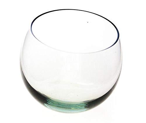 Ngwenya Glass Whisky-Glas, Whisky-Glas, Fair Trade, aus recyceltem Glas, Set von 2mit Holzbox