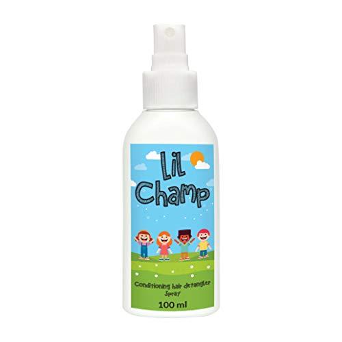Haarkur von LIL CHAMPS I 100ml Haarspray für das lösen von Haarknoten bei Kindern I Bio Spray mit Lavendelöl und Rosmarinöl I Alternative zur Entwirrungsbürste I Schnell & einfach