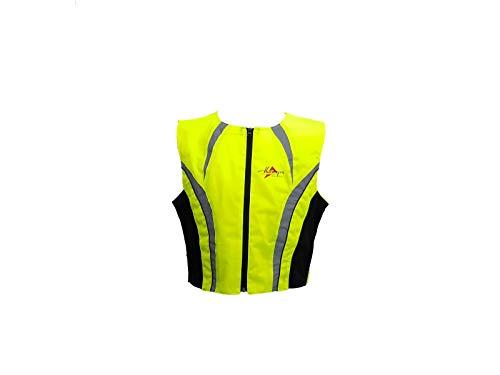 Börjes Bikers Outfit Börjes Warnweste Leuchtweste neongelb Motorradweste Reflexstreifen, 4XL/5XL