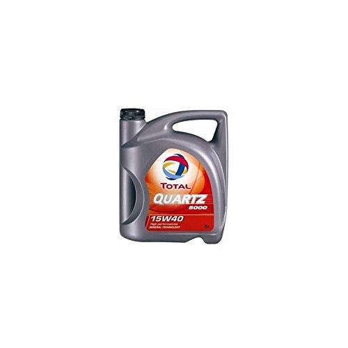 Aceite lubricante para el coche Total Quartz 5000 15W40 Diesel 5 litros