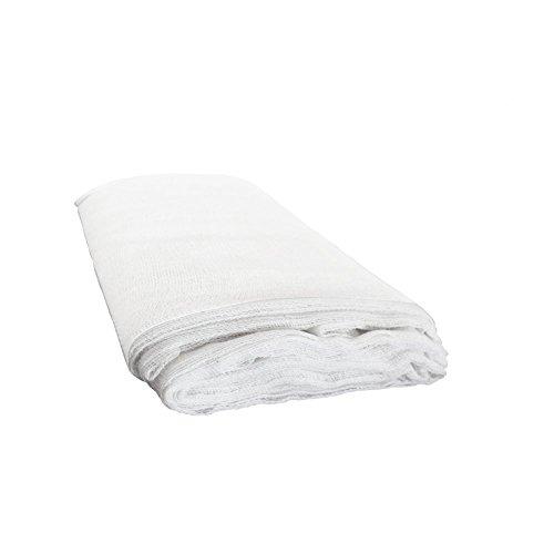 Kbnian unceached cheesecloth 3pcs mussola garza con tessuto in maglia ultra fine per il colino filtro in cucina e decorazioni per l'albero di natale-bianco (3m / 3,2 yard)