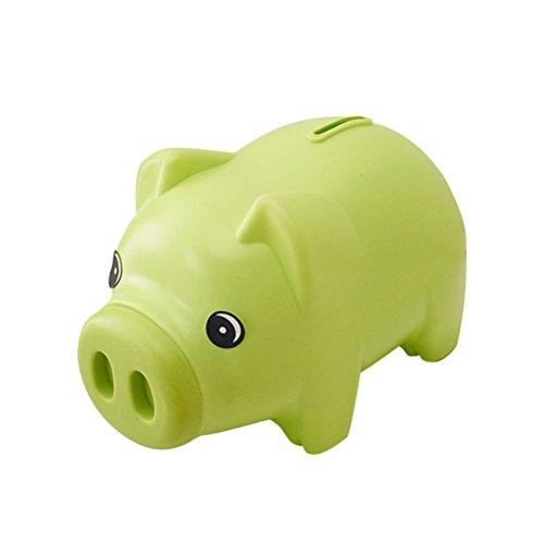 TOYMYTOY Hucha Plastic Saving Pot un regalo único perfecto de Navidad para los niños (verde)