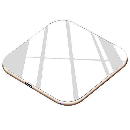 Te-Rich Chargeur Sans Fil Rapide 15W, Chargeur Induction Qi 7.5W Compatible avec iPhone 11/11 Pro/11 Pro Max/XS/XS Max/XR/X/8+/8, 10W Charge Rapide pour Galaxy S10 S10+ S9 S9+ S8 S8+ S7 S7 Edge Note 8