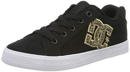 DC Shoes Damen Chelsea Tx Se - Low-top Shoes for Women Sneaker, Leopard Print, 41 EU -