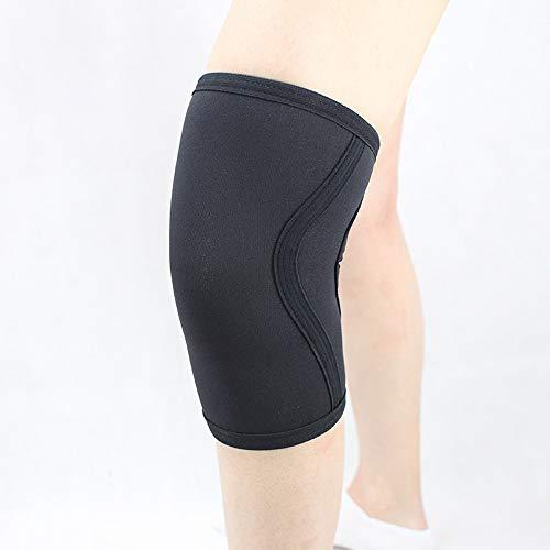 Wxtreme 1 paio di protezioni per le ginocchia Squat Supporto per le alte prestazioni 7mm Neoprene Best Protezione per il ginocchio per sollevamento pesi Sport professionistici Nastri di sicurezza Pall