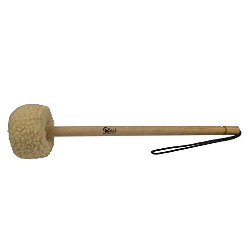 IKN 1pcs Gong Mallet Holz Kern mit kleinen Wolle Spitze abgedeckt -