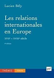 Les relations internationales en Europe (XVIIe-XVIIIe siècles)