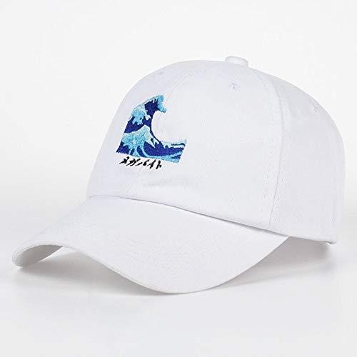 QQYZ Atmungsaktive Wellen Snapback Papa Caps Strapback Baseball Cap Bboy Hip-hop Hüte Für Männer Frauen Fitted Hut Schwarz Rosa Weiß weiß - Bboy-baseball-cap