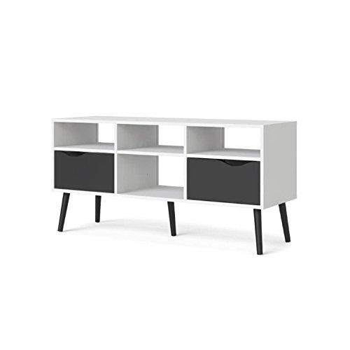 TV-Board Napoli, TV-Lowboard schwarz/weiß