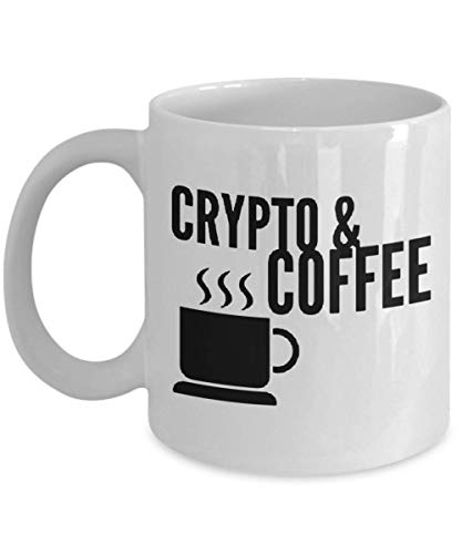 Coffee and Crypto Cryptocurrency HODL Gift Idea Coffee Mug, Funny, Cup, Tea, Gift For Christmas, Father's day, Xmas, Dad, Anniversary, Mother's day, P