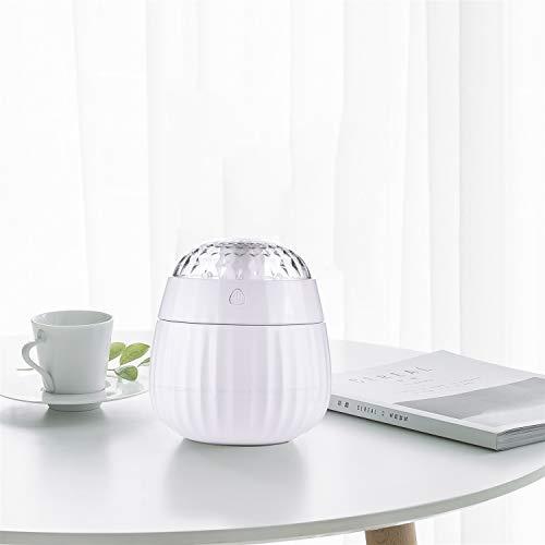 Kefaith Befeuchter Vaporizer, LED-Farben-Anzeige-Projektor-Luftbefeuchter für Haus, Schlafzimmer Kühler Nebel (Farbe : White)