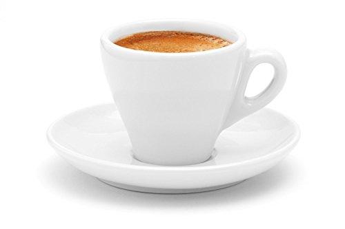 Luxpresso dickwandige Espressotassen Italia, weiß aus Porzellan, 6 Stück