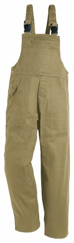 Latzhose 195-0-600-52 Latzhose, 100 % Baumwolle, Sanfor, Größe 52, Farbe: beige (Baumwoll Latzhose)