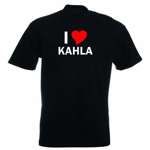 T-Shirt mit Städtenamen - i Love Kahla - Herren - unisex Schwarz