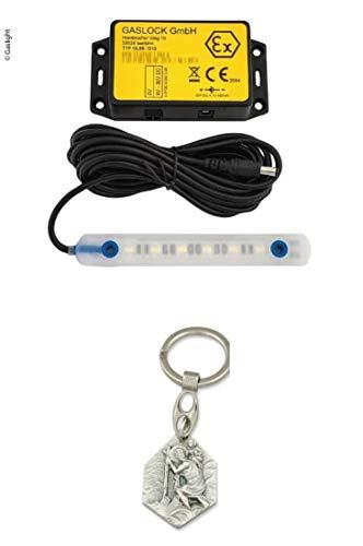 Unbekannt Gaslight® - LED-Lampe für Gaskasten etc. (93298875405) mit Anhänger Hlg. Christophorus -