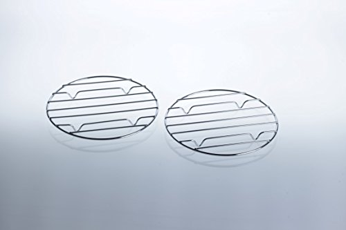 2x Grillrost für Camping-Gaskocher mit Grillplatte: Zubehör für Mini-Gasgrill / Kartuschen - Grill