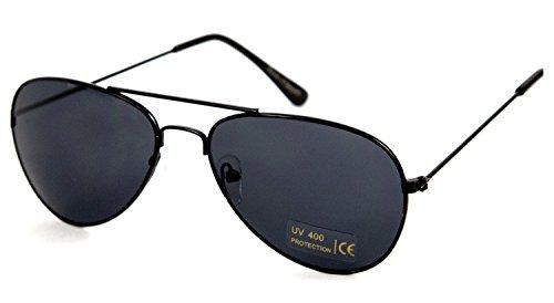 Nick and Ben Kinder Pilotenbrille Sonnenbrille Schwarz Fliegerbrille