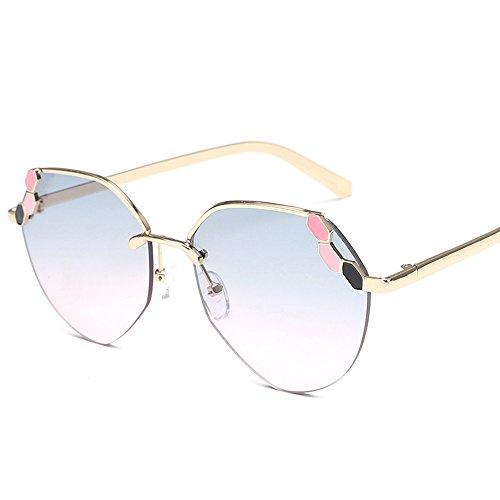 LVZAIXI Polarisierte Sonnenbrille-Flieger-Frauen der Männer, die Weinlese mit Sonnenbrille-Kasten fahren ( Farbe : Weiß - Männer Korea Sonnenbrillen