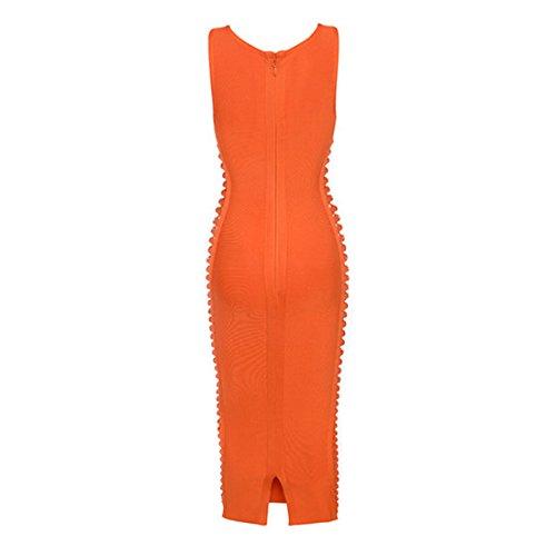 HLBCBG Damen Kleid rot rot 36 Orange