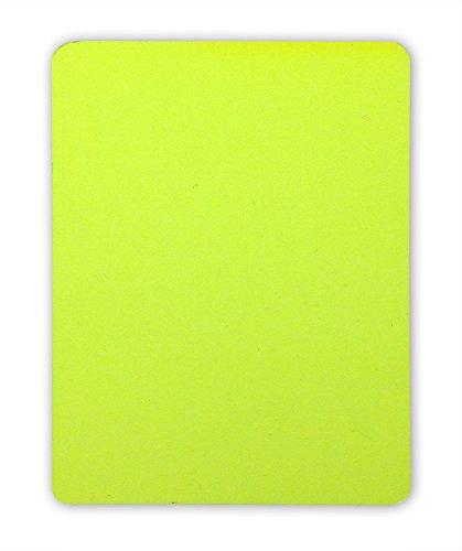 Schiedsrichter Disziplinarkarte (Gelbe Karte) für Handball, Fußball, Volleyball, 9 x 12 cm, PVC, abgerundete Ecken, neonfarben gem. Reglement und ohne Logo / Branding