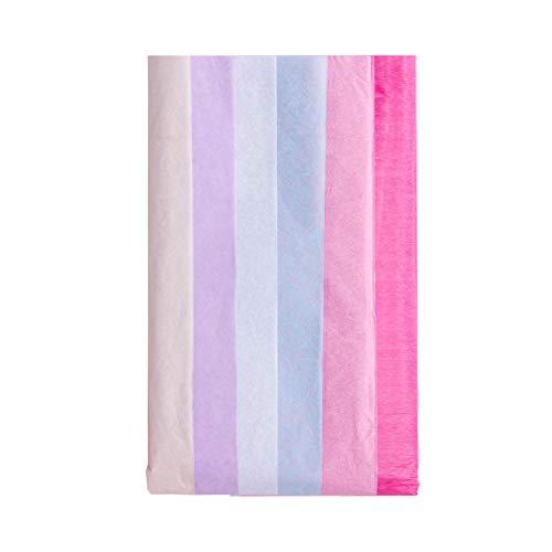 RUSPEPA Papel cebolla de 50x66 cm en bolsa de 12 colores surtidos