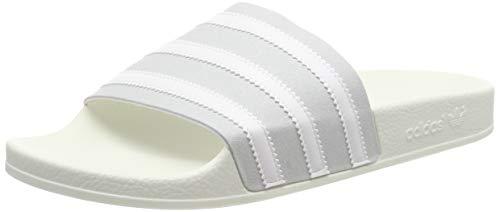 Adidas Sportliche Sandalen (adidas ADILETTE, Herren Pantoffeln, Grau (Grey Two F17/Ftwr White/Off White Grey Two F17/Ftwr White/Off White), 42 EU (8 UK))