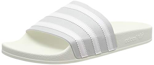 adidas ADILETTE, Herren Pantoffeln, Grau (Grey Two F17/Ftwr White/Off White Grey Two F17/Ftwr White/Off White), 42 EU (8 UK) -