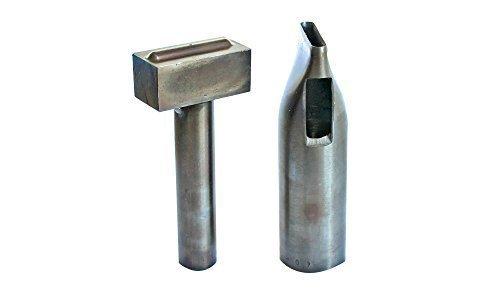 Set von Loch Stanze und Öse Festlegen Von Hand Werkzeug für Metall Oval Ösen by Trimming Shop - Metallic, 20mm (Hand Öse)