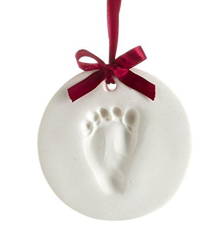 Babyprints Handabdruck oder Fußabdruck Andenken Ornament, Weiß