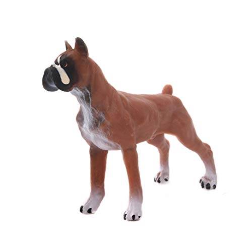 Simulation Lifelike Wild Animal Toy Boxer Dog Model Figurine Action Figures Home Decor Educational Toys for Children -