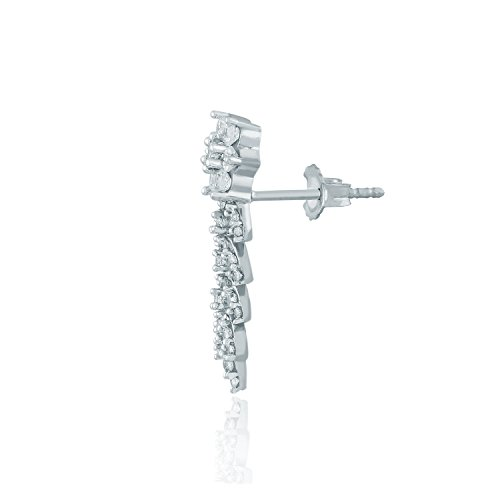 Giantti Diamant pour femme pendantes Boucles d'oreilles (0.8CT, VS Clarté, Gh-colour)