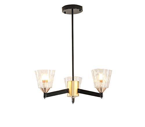 3 lampadari a lume di candela moderna illuminazione a sospensione in vetro sala da pranzo in metallo apparecchi di illuminazione appesa lampada contemporanea a incasso plafoniere