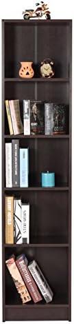 DeckUp Lexis 5-Shelf Bookcase and Storage Unit (Dark Wenge,