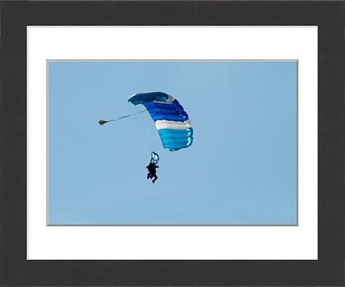 framed-print-of-blue-parachute-in-blue-sky
