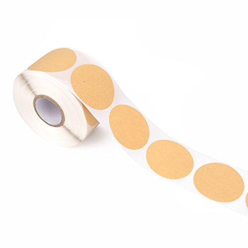 Set jumbo di etichette di carta da pacchi rotonde 500 pezzi in rotolo diametro ca. 4 cm in pratica confezione ideale per regali  scrapbooking  barattoli e molto altro