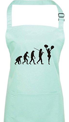 Krokodil Kochschürze Evolution Cheerleader Cheerleading Kostüm Fun Sport Tanz, Farbe aqua (Aqua Tanz Kostüm)