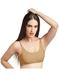 ebc315ff49 DAISY DEE Skin Color Cotton Wirefree Regular Straps Seamless Full Coverage  Non Padded Bra for Women