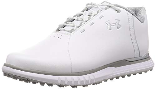 Under Armour Fade SL, Zapatos de Golf para Mujer, Blanco (White/Overcast Gray/Metallic Silver 100), 38.5 EU