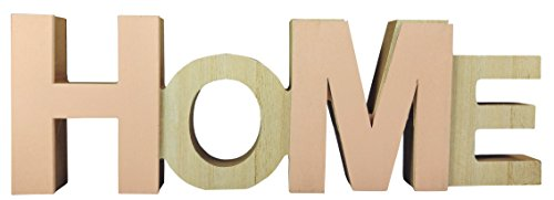 khevga Wohnzimmer-Deko: Schriftzug Home Holz in rosa