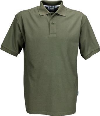 Preisvergleich Produktbild Slazenger Polo Hemd Poloshirt aus 100 % Baumwolle für Freizeit,  Tennis oder Golf in 23 Farben und den Grössen S,  M,  L,  XL und XXL Army Green, S