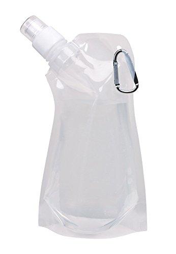 Trinkflasche faltbar 0,40 Liter Karabinerhaken Trinkbeutel Wasserflasche Sport